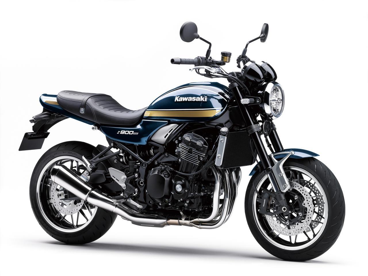 画像: Kawasaki Z900RS 2022年モデル 総排気量:948cc エンジン形式:水冷4ストDOHC4バルブ並列4気筒 シート高:800mm 車両重量:215kg
