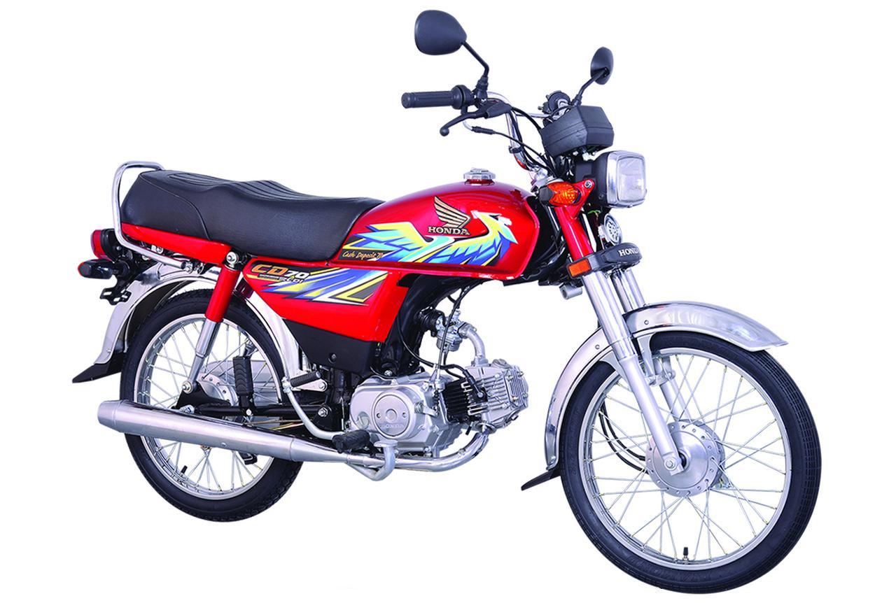 画像: Honda CD70 総排気量:72cc エンジン形式:空冷4ストOHC2バルブ単気筒 乾燥重量:82kg