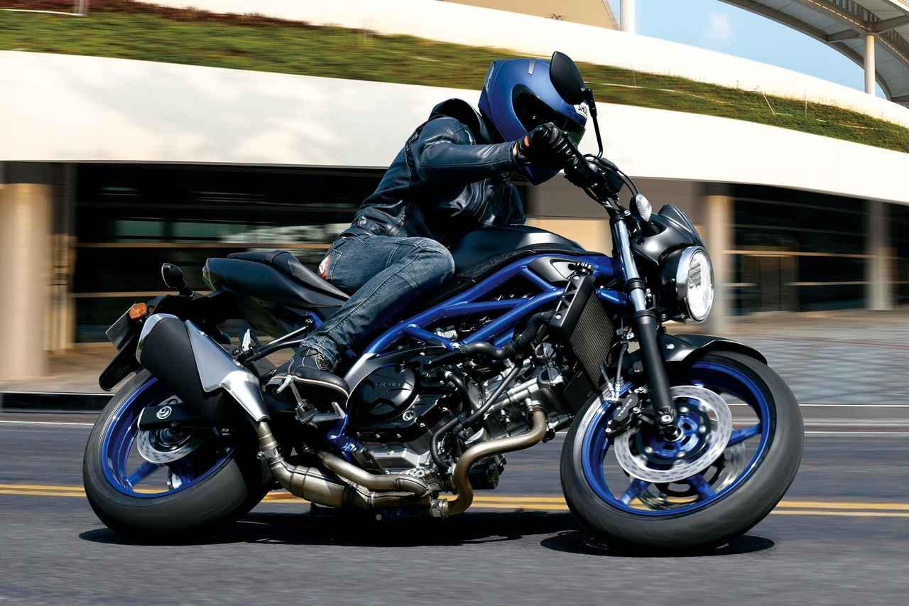 画像: SUZUKI SV650 ABS 総排気量:645cc エンジン形式:水冷4ストDOHC4バルブV型2気筒 シート高:785mm 車両重量:197kg 税込価格:78万5400円