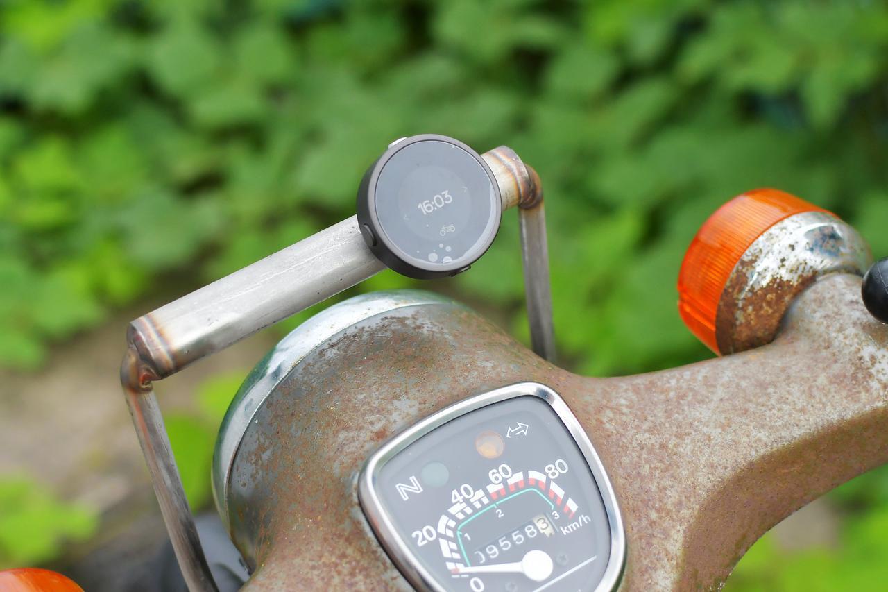 画像: バイクに装着してみた