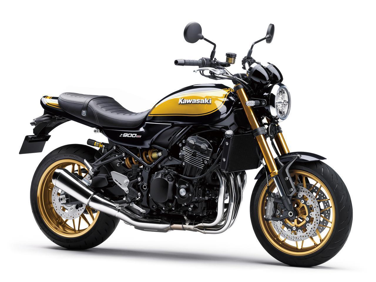 画像: Kawasaki Z900RS SE 国内・2022年モデル 総排気量:948cc エンジン形式:水冷4ストDOHC4バルブ並列4気筒 シート高:810mm 車両重量:215kg 発売日: 2021年11月12日(金) ※2021年9月17日追記:発売時期は2022年春頃に延期 税込価格:160万6000円