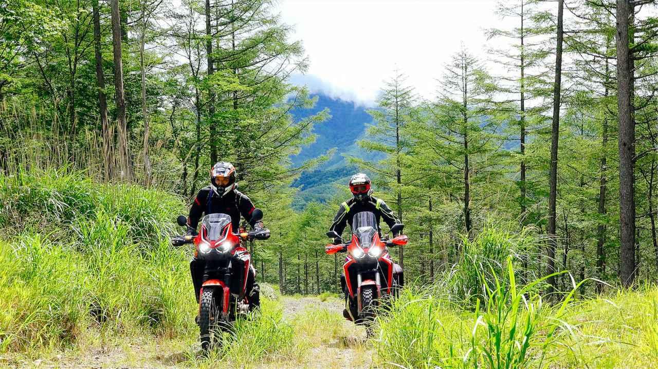 画像: 大鶴義丹さんとゆく林道ツーリング|ホンダ・アフリカツイン2台で駆けるダート総距離100kmの日帰りトリップ(三橋 淳) - webオートバイ