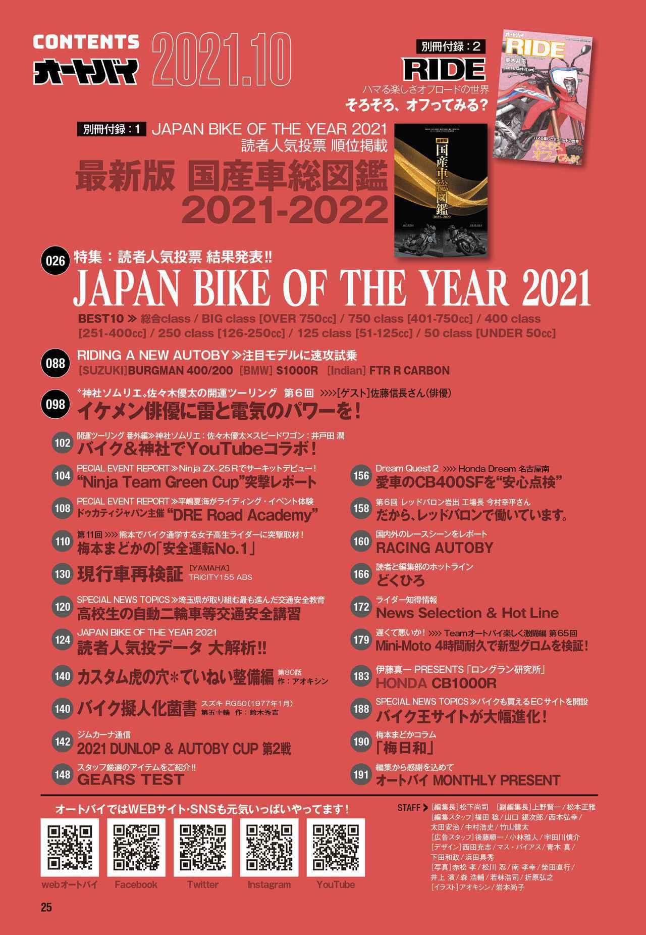 画像3: 「ジャパン・バイク・オブ・ザ・イヤー 2021」の結果を発表! 月刊『オートバイ』10月号でいま最も人気のバイクが分かります!