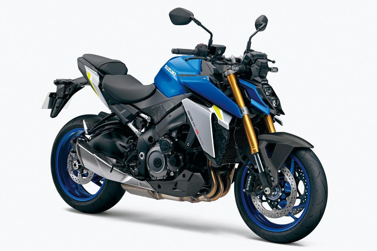 画像: SUZUKI GSX-S1000 総排気量:998cc エンジン形式:水冷4ストDOHC4バルブ並列4気筒 シート高:810mm 車両重量:214kg 発売日:2021年8月4日 税込価格:143万3000円