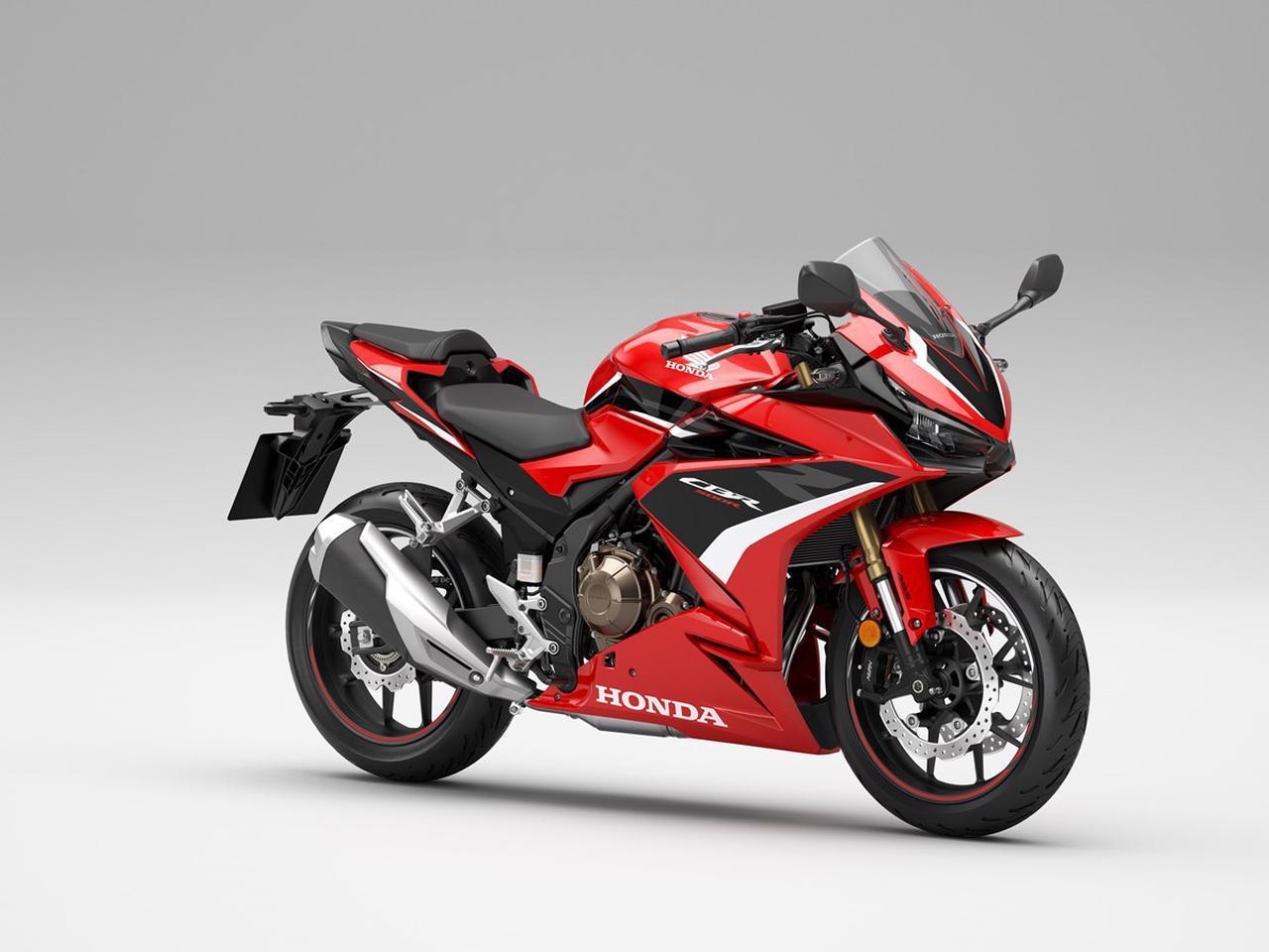 画像: Honda CBR500R 海外仕様・2022年モデル 総排気量:471cc エンジン形式:水冷4ストDOHC4バルブ並列2気筒 シート高:785mm 車両重量:192kg