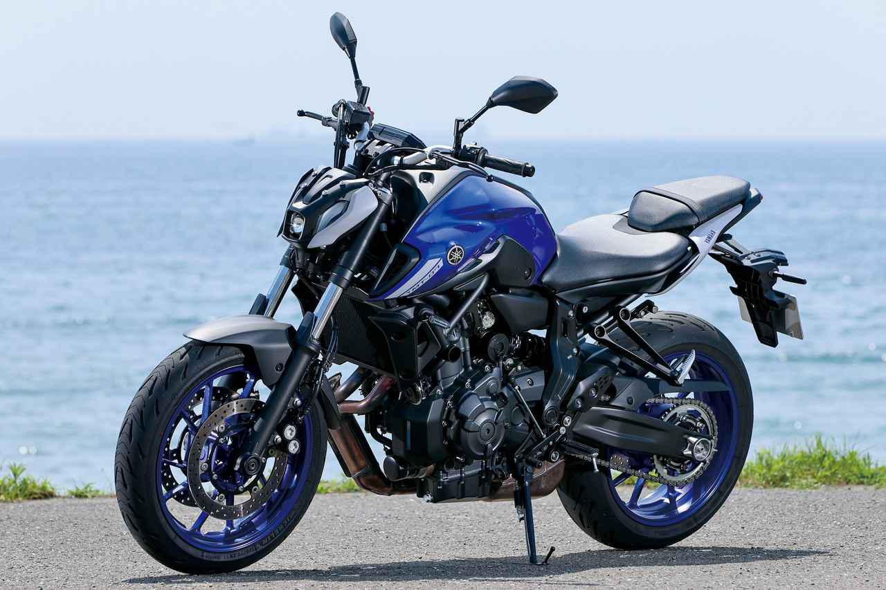 画像: YAMAHA MT-07 ABS 総排気量:688cc エンジン形式:水冷4ストDOHC4バルブ並列2気筒 シート高:805mm 車両重量:184kg 税込価格:81万4000円