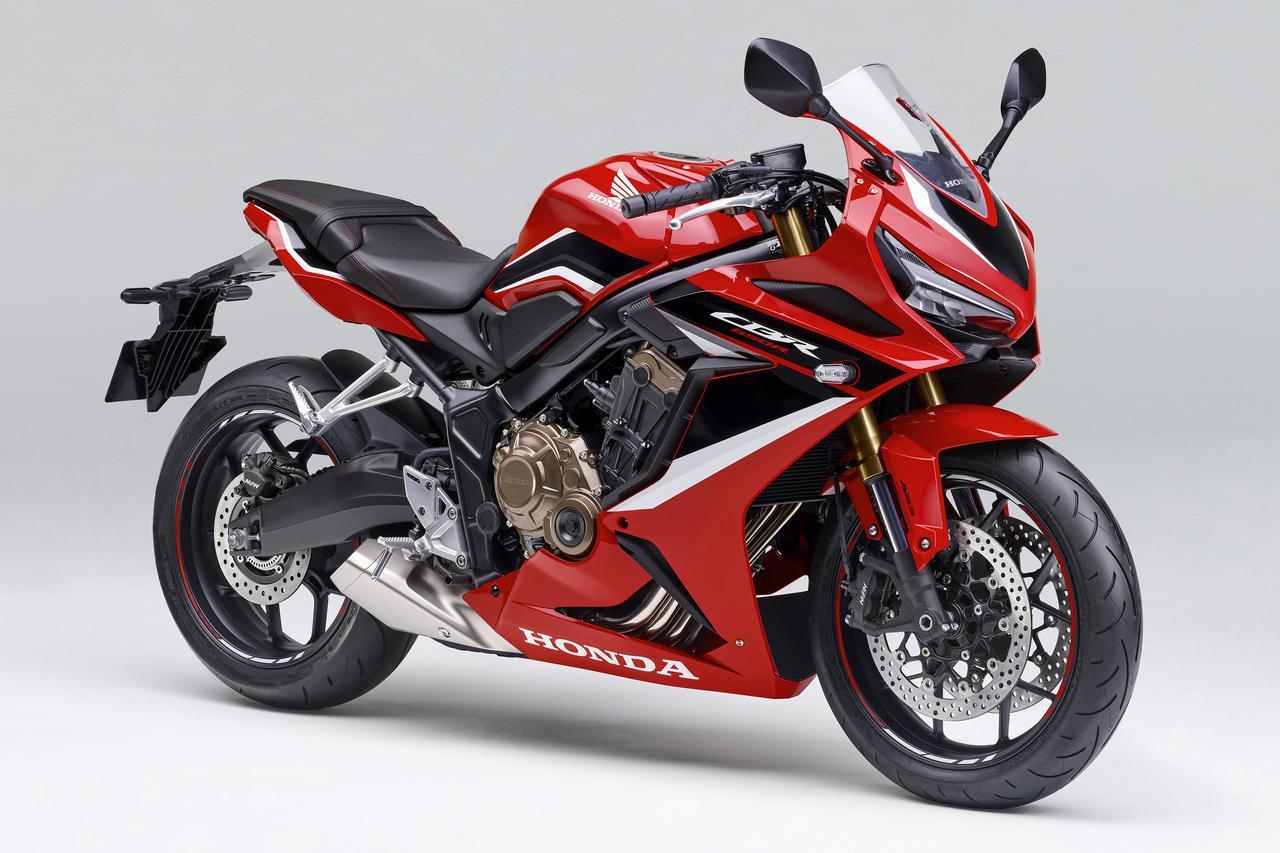 画像: Honda CBR650R 総排気量:648cc エンジン形式:水冷4ストDOHC4バルブ並列4気筒 シート高:810mm 車両重量:206kg 発売日:2021年1月28日 税込価格:105万6000円~108万9000円