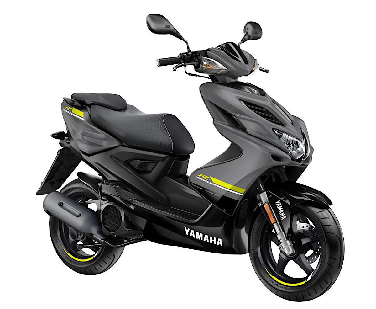 画像: YAMAHA Aerox4 EU仕様 総排気量:49.45cc エンジン形式:水冷4ストOHC単気筒 シート高:817mm 車両重量:97kg
