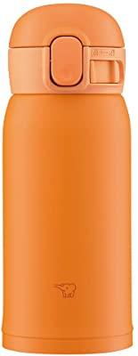 画像: Amazon|象印 (ZOJIRUSHI) 水筒 ワンタッチ ステンレスマグ シームレス 0.36L オレンジ