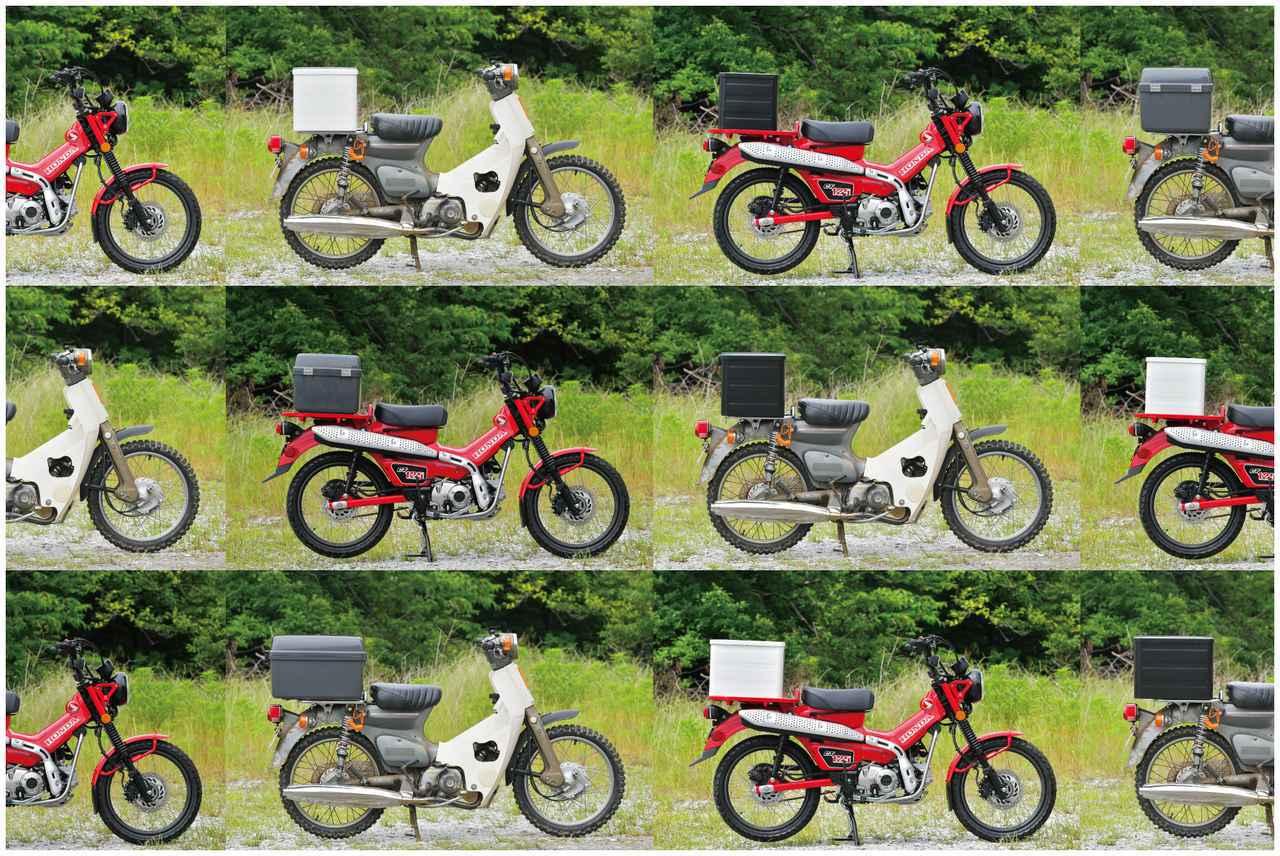 画像: スーパーカブとハンターカブにいろんな箱を付けまくる。 - webオートバイ