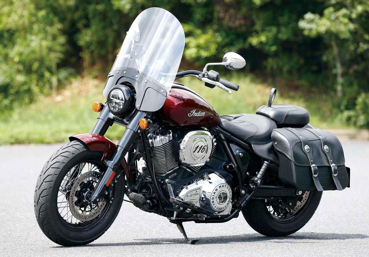 画像: Indian Motorcycle Super Chief Limited 総排気量:1890mm エンジン形式:空冷4ストOHV2バルブV型2気筒 シート高:665mm 車両重量:335kg 税込価格:287万8000円