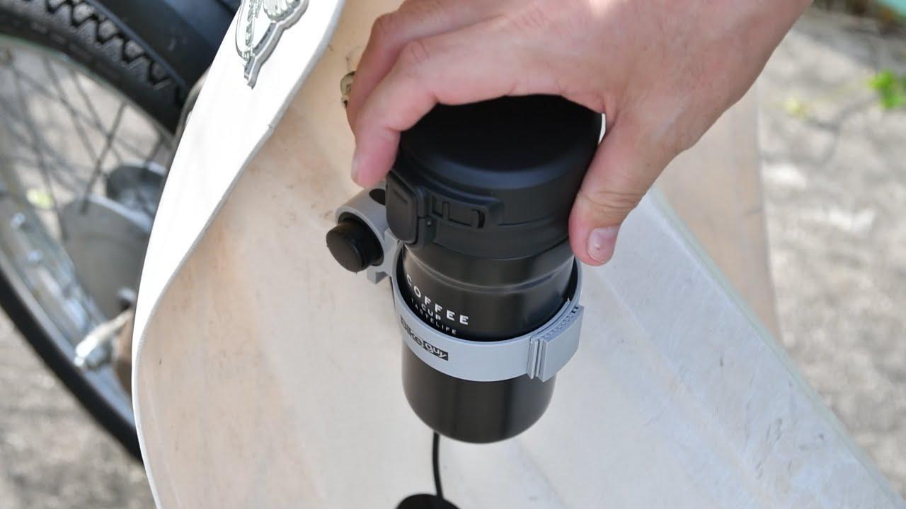画像: アマゾンで買ったサイズ調整式カップホルダーのサイズを調整してみた。 youtu.be