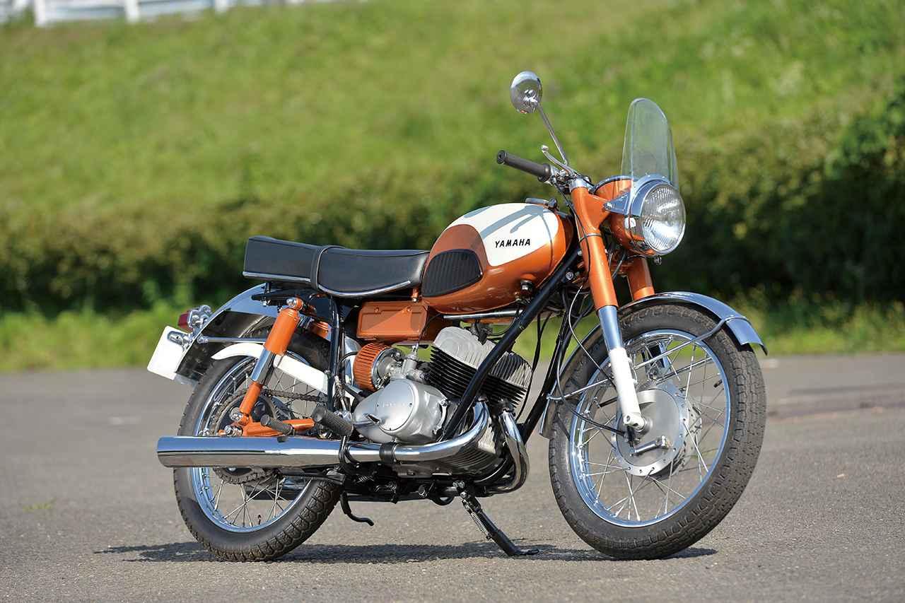 画像: YAMAHA YDS-1 1959 総排気量:246cc エンジン形式:空冷2スト・ピストンバルブ並列2気筒 車両重量:138kg