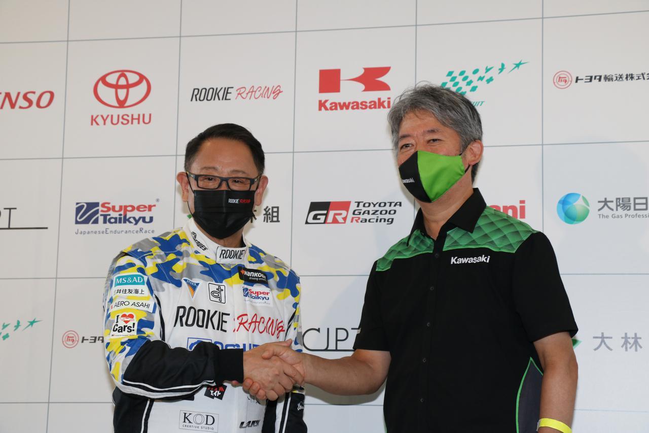 画像: スーパー耐久のトヨタ・カローラにカワサキが水素を提供!