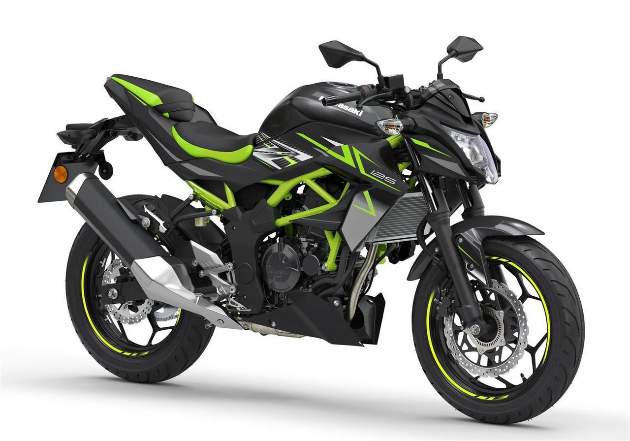 画像: Kawasaki Z125 欧州仕様車 総排気量:125cc エンジン形式:水冷4ストDOHC4バルブ単気筒 シート高:815mm 車両重量:147kg 写真のカラーはメタリックフラットスパークブラック