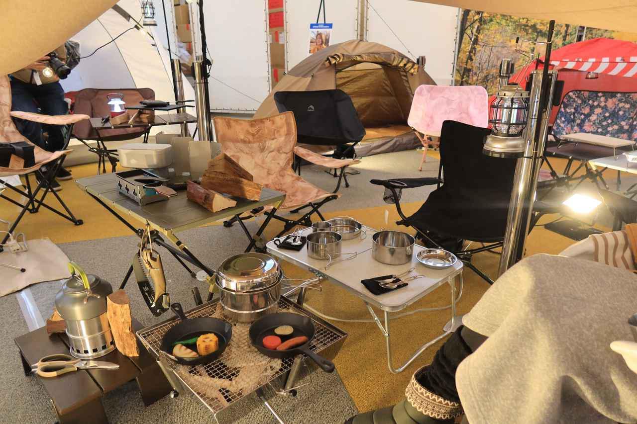 画像: ▲ここ写っているキャンプ用品はほぼすべてワークマン製品ですよ。すごくないですか?