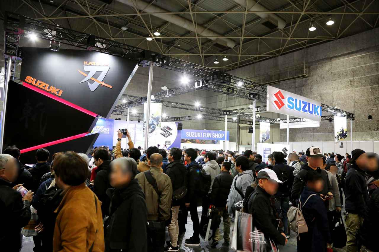 画像: ▲大阪モーターサイクルショー2019ではスズキKATANAが国内初公開。大きな話題となりました。
