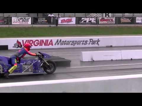"""画像: 201 mph @ 6.94 sec - Lawless OCC Electric Drag Bike & Larry """"Spiderman"""" McBride www.youtube.com"""