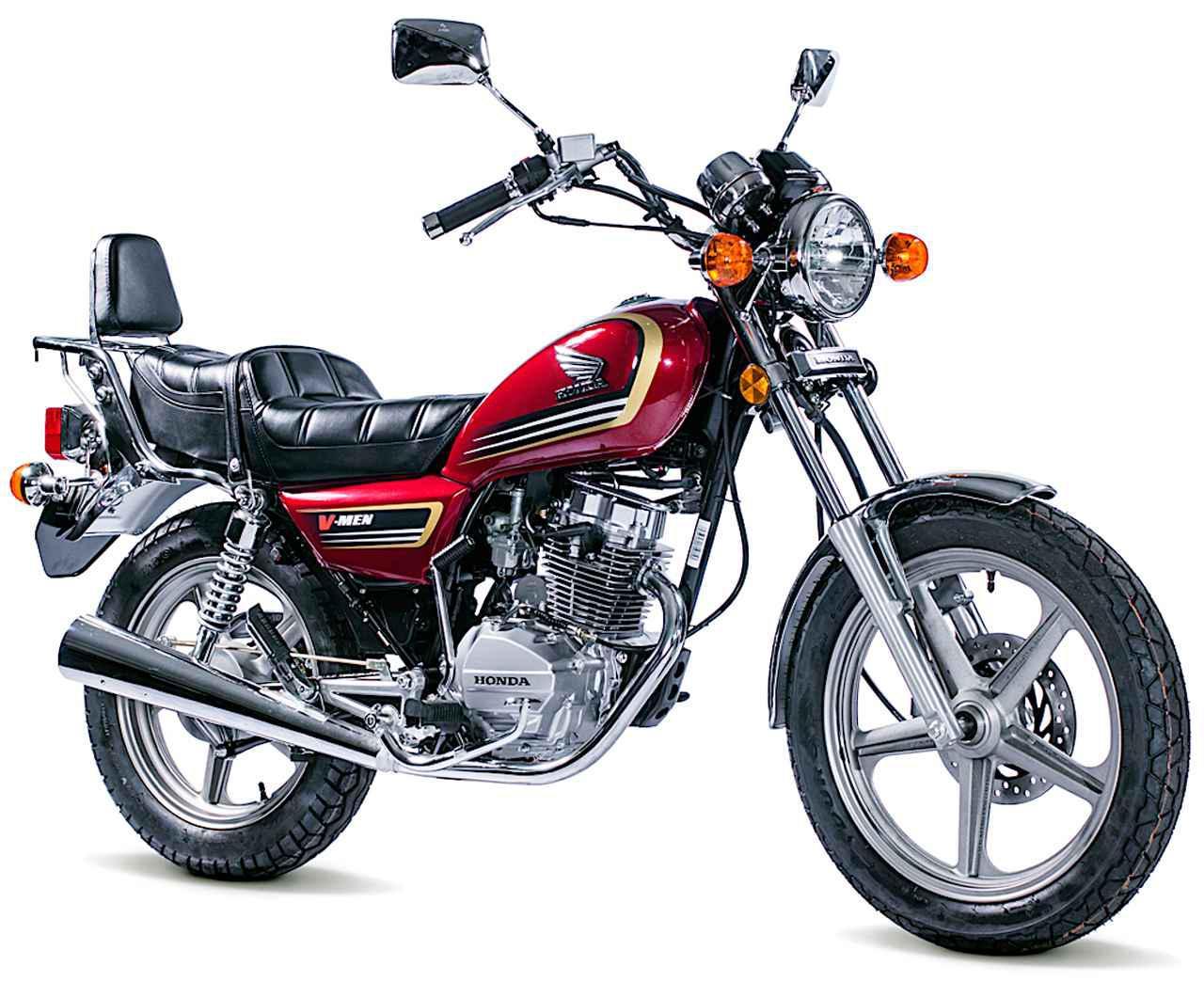 画像: Honda V-MEN125 総排気量:124.1cc エンジン形式:空冷4ストOHV2バルブ単気筒 車両重量:133kg