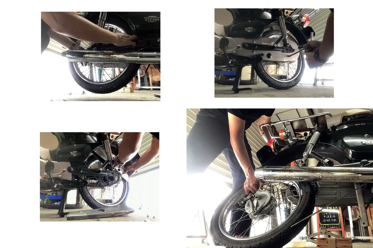 画像: タイヤ外すのも、構造を見ればまるでカンタン。こっち先に外して、あ、こっちも外すのか、って感じです