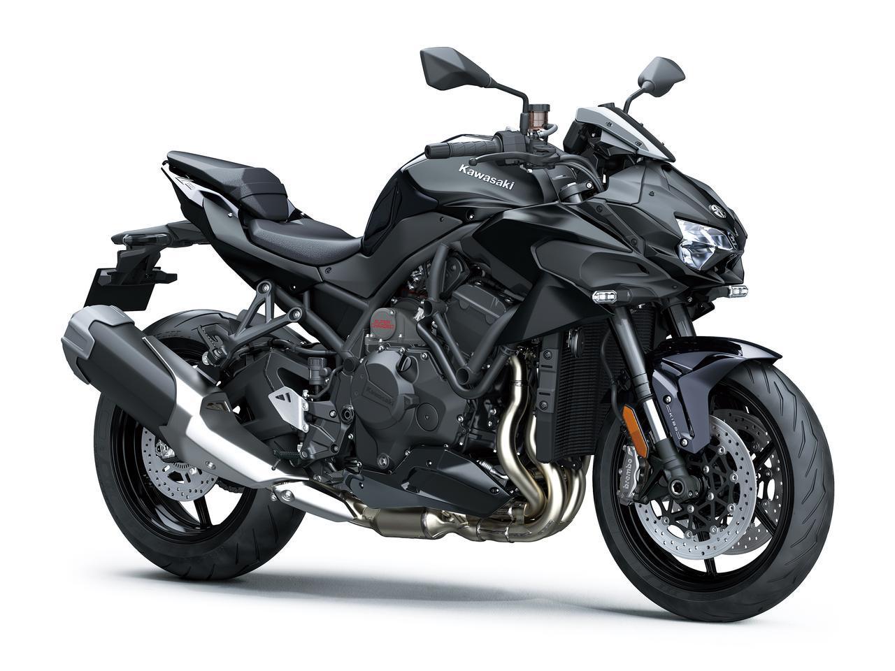 画像: Kawasaki Z H2 総排気量:998cc エンジン形式:水冷4ストDOHC4バルブ並列4気筒 シート高:830mm 車両重量:240kg ※写真はノーマル仕様車