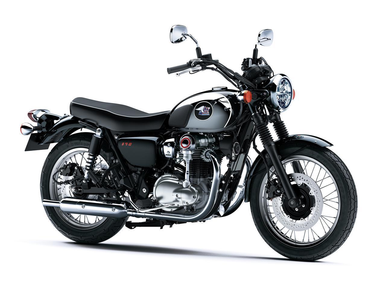 画像: Kawasaki MEGURO K3 総排気量:773cc エンジン形式:空冷4ストSOHC4バルブ並列2気筒 シート高:790mm 車両重量:227kg