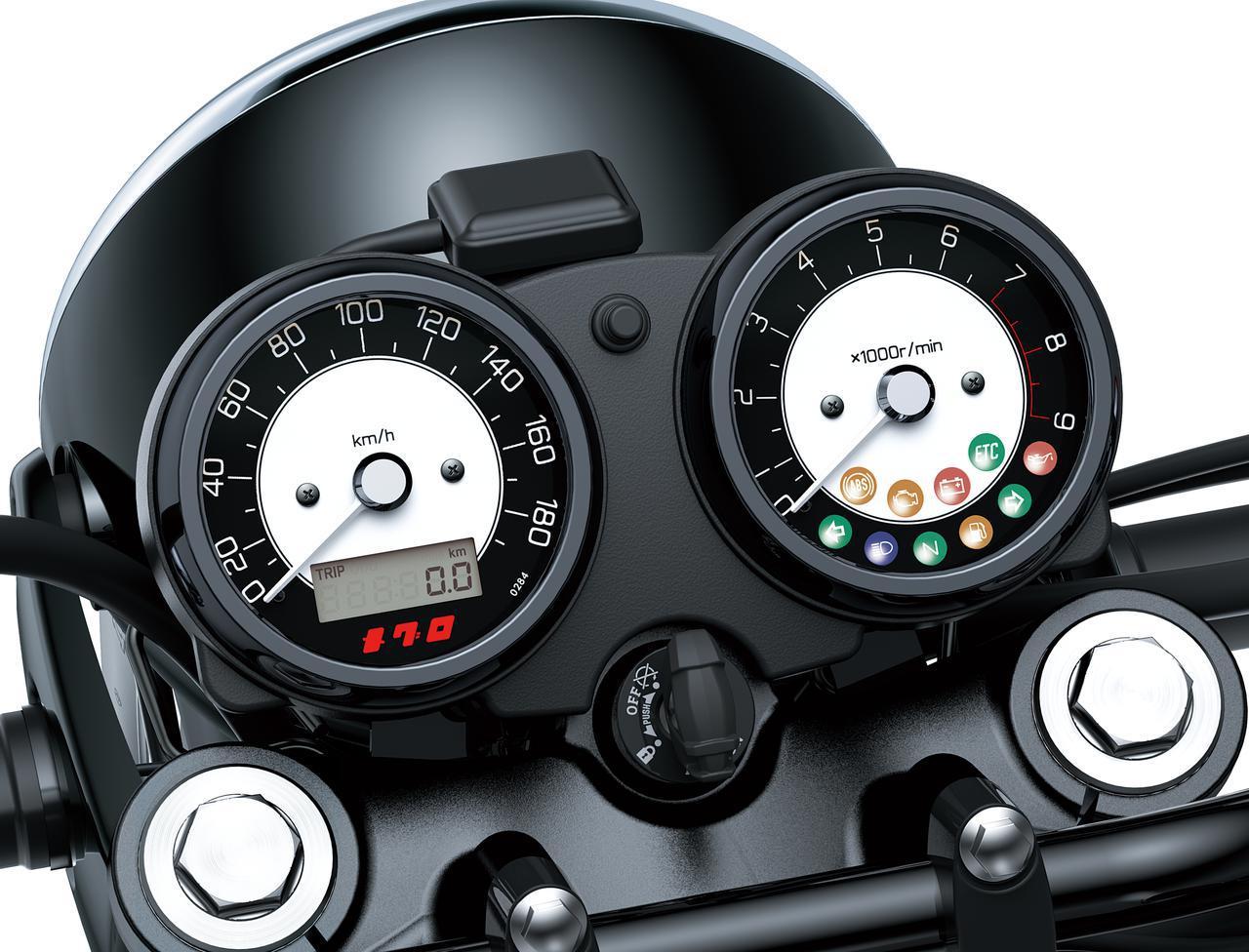画像3: カワサキが「メグロK3」の2022年モデルを発表|最新の排ガス規制に適合させ現役続行! 令和の時代を走る空冷2気筒大型バイク
