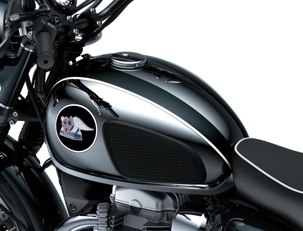画像2: カワサキが「メグロK3」の2022年モデルを発表|最新の排ガス規制に適合させ現役続行! 令和の時代を走る空冷2気筒大型バイク