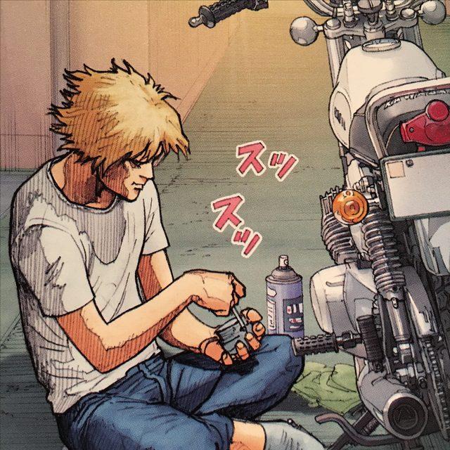 画像: 自らの手でマッハの修理を始める男。自分自身も動き始める時期が来たと自覚したのだろうか。