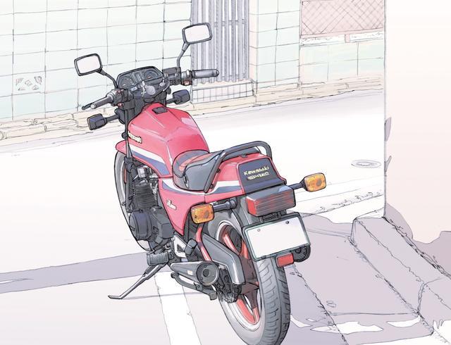 画像: 目線の先には愛するオートバイが。 ©東本昌平先生/モーターマガジン社