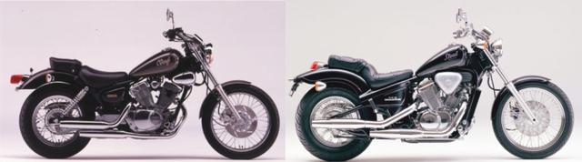 画像: (左)1988 YAMAHA XV250 VIRAGO(写真はXV250 VIRAGO SPECIAL(1989)|(右)1988 HONDA STEED400/©モーターマガジン社