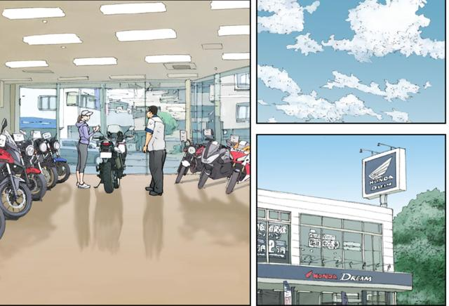 画像: ジョギングの帰りに、そのままホンダのディーラーで契約をしてしまうアキコ