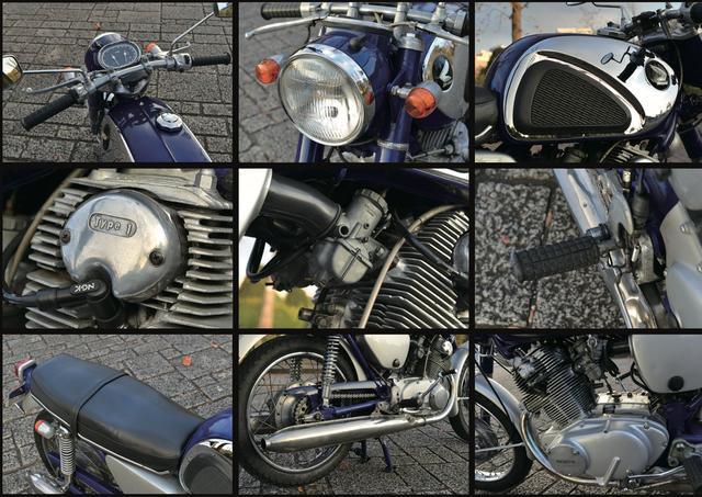 """画像: """"1960年代:大排気量欧州車に対峙した名車"""" HONDA CB77 〜Mr.Bike BG 2016年1月号『CB+ROAD』より"""