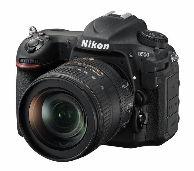 画像: キットレンズのAF-S NIKKOR  16-80mm f/2.8-4E  ED VRを装着した状態のD500