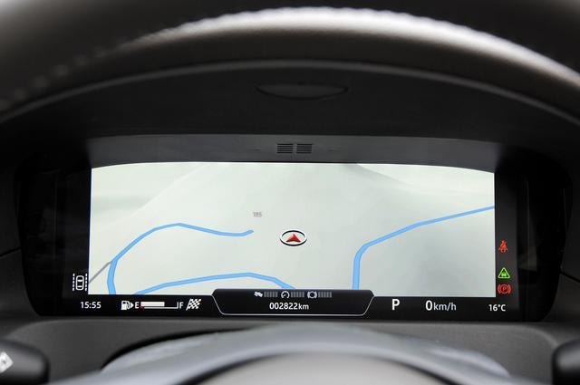 画像: 12.3インチのTFTインストゥルメントクラスターにはフルスクリーンで3Dマップビューの表示が可能である。