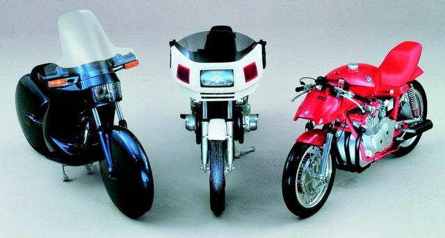 画像: 1979年、ドイツのオートバイ誌『モトラッド』が増刊号の巻頭企画としてデザインコンペを開催。そこに寄せられた作品たち。/©モーターマガジン社