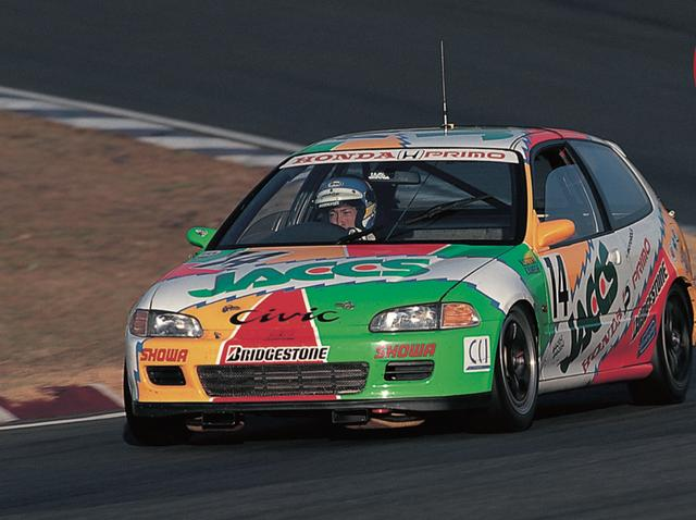 画像1: それから'88年〜'92年とマシンもワンダーからグランド(EF)、スポーツ(EG)と続いたのだが、93年に全日本ツーリングカー選手権が終わるまでホンダが 7年連続という長きにわたりタイトルを死守した。ライバルにはトヨタ・レビン(AE92・AE101)という手強い相手もおり、優勝を阻まれたレースもいくつかあったが、シビックの前では数あるマシンのウチのひとつとしか見なされなかったようだ。(文◎原田了) www.motormagazine.co.jp
