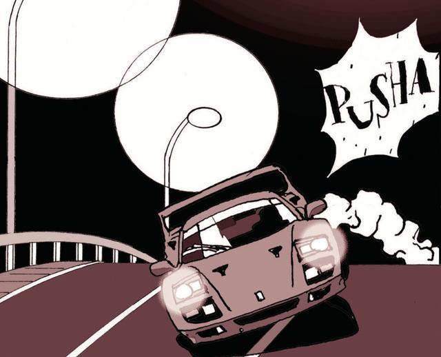画像: ゴォーッと先を急ぐ一台のフェラーリ。