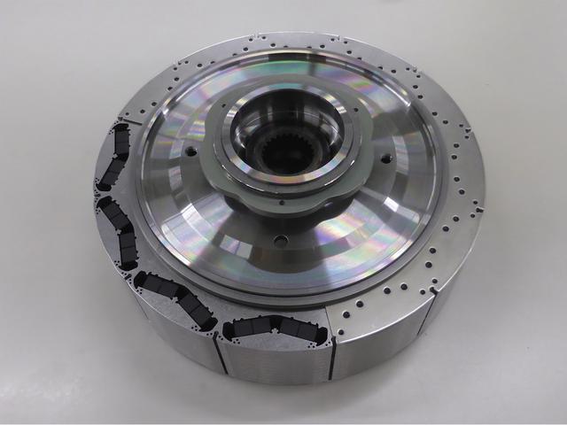 画像: 重希土類完全フリー磁石が用いられた新開発のi-DCD 駆動モーター用ローター。