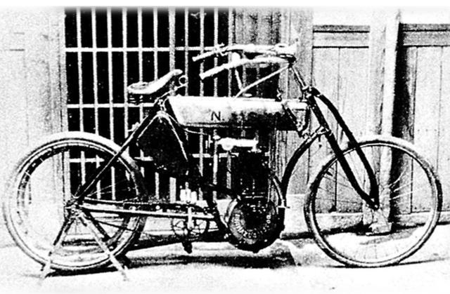 画像: 島津モーター NS号(1909年)