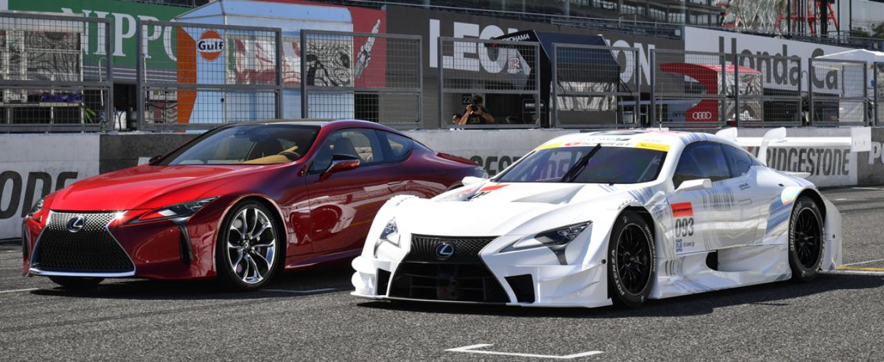 画像: 左は2017年春に国内発売されるLC500。発売と同時にレースデビュー!(写真:井上雅行)