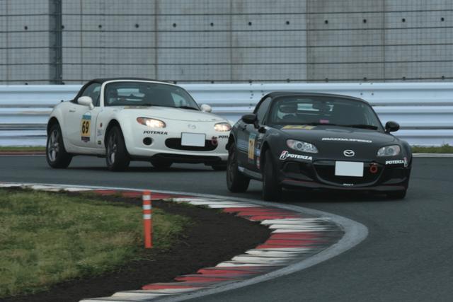 画像: 6月25日の第3戦で行われたロードスターカップNC/NDとデミオ などの混走レースでは、NCチャレンジクラスで波乱が起こった。 www.motormagazine.co.jp