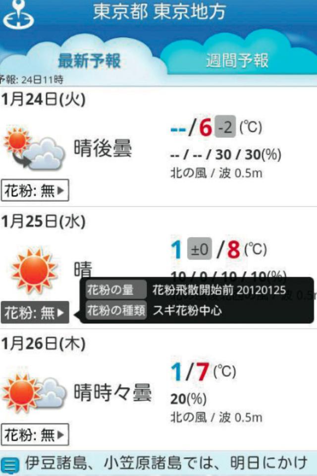 画像: 2.天気の「予報文」まで分かるアプリ 「そら案内」