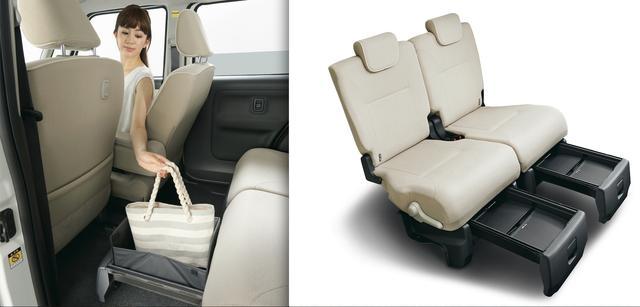 画像: 置きラクボックスにより、トランクに回りこむ必要がなくなり「置きラクボックスに荷物を置く→車内に乗り込む」という最小限の動線を実現しています。