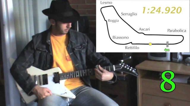 画像: V6 F1 Guitar Monza. Prediction of 2014 pole lap sound and time youtu.be