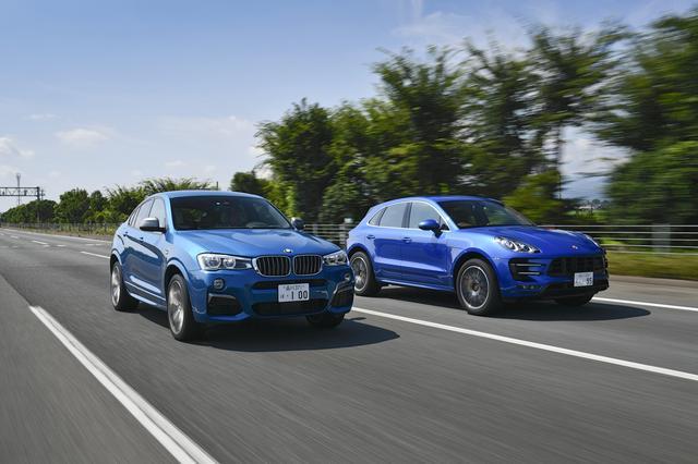 画像: いいライバル関係にあると言える、BMW X4 M40iとポルシェ マカン ターボに同時試乗した。