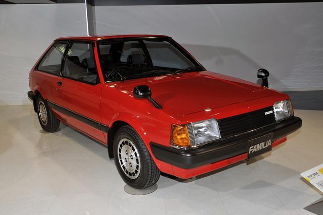画像: 一世を風靡した1980年式ファミリアXGなど、どれも懐かしくなる名車ばかりが展示されている。