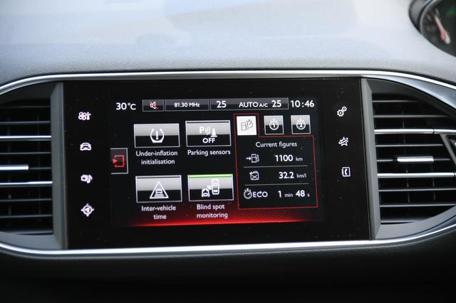画像: 復路の燃費。法定速度内で高速道路中心に走るとJC08値は超える。瞬間燃費を見ながらどのような運転方法が好燃費になるか考え走った。