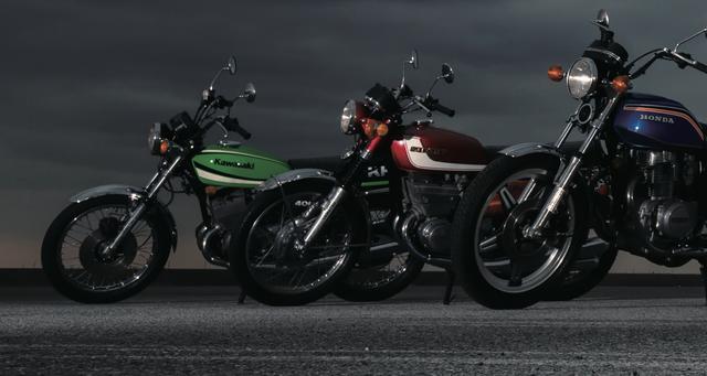 画像: 主人公江口洋助の愛車はスズキのGS400だが、湘爆メンバーや対立するライバルチームたちも、あの頃のあのバイクを駆って大活躍するのだ。(写真:赤松 孝 / 南 孝幸 車 撮影協力:ウエマツ)