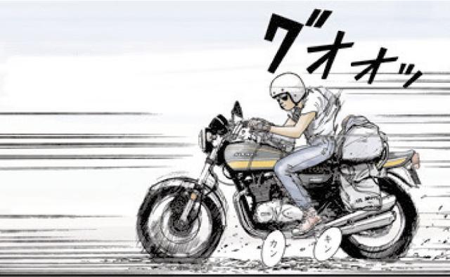 画像: 向こう側にいるか、こっち側にいるのか。 東本昌平先生が贈る、男たちの憧れ『キリン』の世界 ~「キリン」を彩る名車たち:KAWASAKI 750RS [Z2] ~ - LAWRENCE - Motorcycle x Cars + α = Your Life.